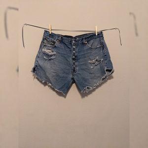 Levi's High WaistedJean Shorts